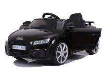 Elektro Kinderauto Audi TT RS 12V, 2x Motoren  AUX+USB -2Gang -LED-black