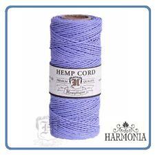 HEMPTIQUE 100% Pure  HEMP CORD SPOOLS  1mm Cord 62.5m spool  FRENCH BLUE