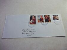 Tiny MANIHIKI COOK ISLANDS Registered Cover USA CHRISTMAS RELIGION STAMPS