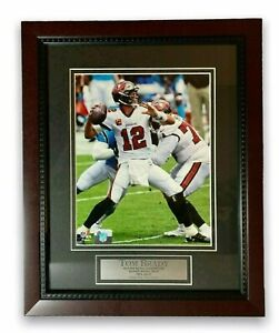 Tom Brady Unsigned Photo Custom Framed to 11x14 Tampa Bay Buccaneers