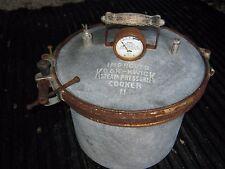 Vintage Aluminum Kook Kwick Steam Pressure Cooker 11 good decor only