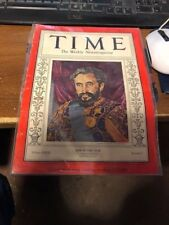 magazine time Haile Selassie   MAN OF THE YEAR JANUARY  6 1936