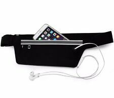 Black Waist Belt Bum Bag Jogging Running Travel Pouch Keys Mobile Money Unisex