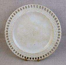Rare et ancienne assiette plate ajourée en faïence de SIERCK 1867-1876 TBE