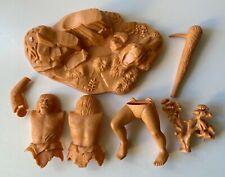 Vintage 1971 Aurora Prehistoric Scenes Neanderthal Caveman Model Kit Pieces