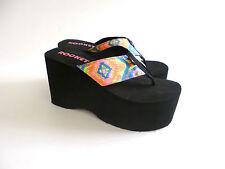 Rocket Dog Platform Flip Flops Big Top Sandals Size 7 7.5 Chunky 90s VTG style