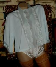 USA M Bed Jacket Nylon Satin Chiffon Pussy Bow & White 100% SILK Satin Panty