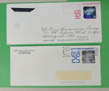 1990s 3D Holographic Stamp Envelopes - 25 Cent & 32 Cent - Used - Good Condiion