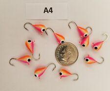 (10) Tungsten Ice Jigs 5mm #10 Hook Glow Panfish Walleye