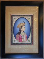 Portrait of Mumtaz Mahal, Indian School. Original 19th century Gouache