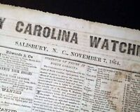 Very Rare SALISBURY NC North Carolina CONFEDERATE Civil War 1864 Old Newspaper