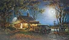 Autumn Traditions by Terry Redlin Fall Hunting Fishing Pumpkin Full Moon Truck