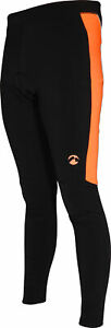 Piu Miglia Padded Thermal Mens Cycling Tights Black Fleecy Winter Bike Leggings