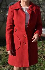 manteau rouge Vintage femme T38 parfait état