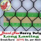 "Poultry Netting 50'x70' Light Knitted 1"" Mesh Aviary Anti Bird Net Polyethylene"
