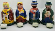 Gallo Villeroy & Boch Nativity four (4) piece set Mary Joseph Candle christmas
