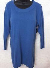 NWT Jones Plus Size 1X Long Sweater Cornflower Blue