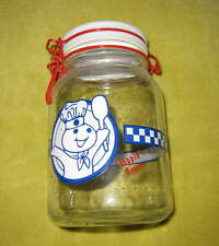 Anchor Hocking Glass POPPIN' FRESH Dough Boy CANNISTER Jar Storage Classic