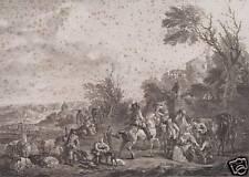 Carel van Falens Jean Moyreau Flandern Jagd Jäger Ziege Treibjagd Dog Hunt Horse