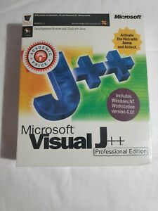 Microsoft Visual J++  Professional Edition Sealed
