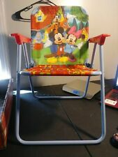 Disney Kid's Only Folding Lawn Chair Mickey, Goofy, Minnie EUC
