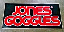 Vintage Lg. Jones Goggles Racing Sticker Decal Motorcycle NOS ISDE ISDT