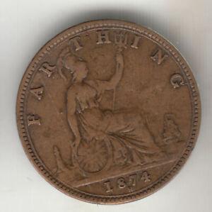 GB VICTORIA FARTHING 1874H                   53P         BY COINMOUNTAIN
