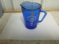 Vintage Shirley Temple Blue Hazel Atlas Glass Creamer / Mini Pitcher.