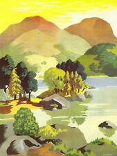 PAINTING LAKE DISTRICT SPARROW ULLSWATER LANDSCAPE ENGLAND PRINT POSTER BB8540
