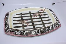 Rare 1879 Victorian Antique Wedgwood Majolica Argenta Platter crate Seaweed Tray