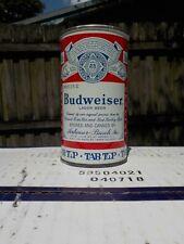 BUDWEISER TAB TOP NEWARK 5 CITY LINES UNEVEN VAR #2 VIRGINIA STAMP OLD BEER CAN