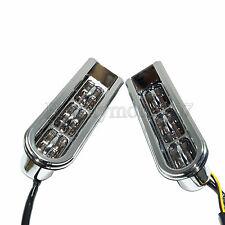 Chrome Accent Saddlebag Filler Inserts Support LED Light For Harley Touring FLHR