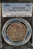 1834 - Capped Bust - Half Dollar - 50c - PCGS - XF-40 - 6165