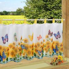 Scheibengardine Schmetterlinge bedruckt 45x90cm Bistrogardine Kurzgardine