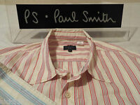 """PAUL SMITH Mens Shirt  🌍  Size L (CHEST 42"""") 🌎 RRP £95+ 🌏 STRIPES & CONTRASTS"""