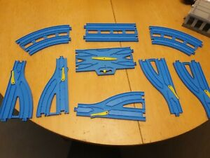 Tomy Trackmaster Thomas Trains Blue Double Track & Switch Over Track Pieces Etc