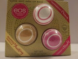EOS Holiday Pack 2019 Super Soft Shea Lip Balm Kit Limited Edition (3 Pcs Set)