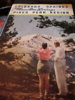 1940's Colorado Springs Manitou Springs And The Pikes Peak Region Guide Booklet