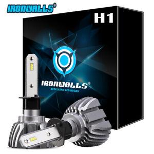 IRONWALLS H1 CSP LED Headlight Bulbs Kit High / Low Beam Cool White 6500K Bright
