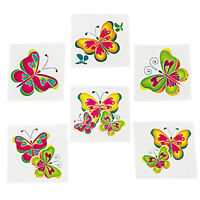 BUTTERFLY PARTY Temporary Tattoos Butterflies Kids Tattoo Pack of 36 Free Post