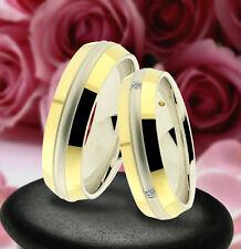 2 Trauring Eheringe Verlobungsringe  GOLD PLATIERT , J240-4