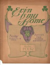 1904 Erin is my Home Newspaper Supplement Bohemian melody by Dempster