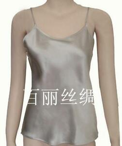 Women's 100% Silk Spaghetti Strap Camisole Tank Top Vest Sleepwear M-2XL YM002
