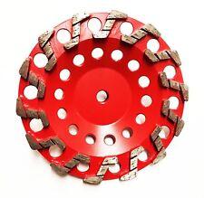"2Pk 7"" Aggressive S Segs #20/25 Grit Diamond Grinding Cup Wheel- Premium Quality"
