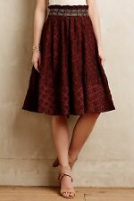 NIP $148 Anthropologie Diamond-Cut Skirt by Maeve Brown Size 6