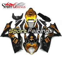 Complete Fairings for Suzuki GSXR1000 2007 2008 Bodywork K7 07 08 Black Gold