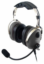 Sl-900m Grey Skylite Aviation Pilot Mp3 Headset WT GEL GA Dual Plug Bag