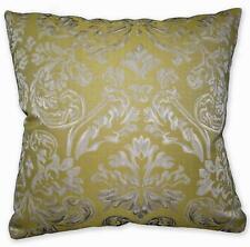 HC601a Lt. Olive Beige Ash Grey Floral Jacquard Cotton Cushion Cover/Pillow Case