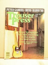 *RARE* Bruce Springsteen 1980s collectible ~ Trouser Press magazine, Oct 1980 **