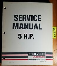 1993 Force Outboards 5 HP Service Manual 90-823263 Boat 93